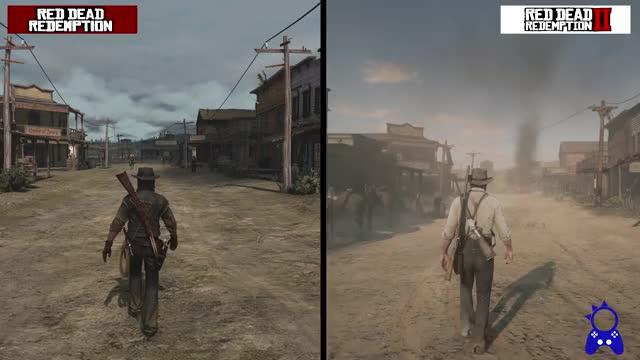 Red Dead Redemption 2 | New Austin Map Comparison | RDR 1 vs RDR2