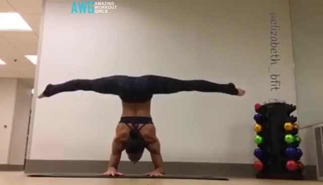 Hardest And Omg Women Strength and Flexibility - SPLIT GIRLS GIFs