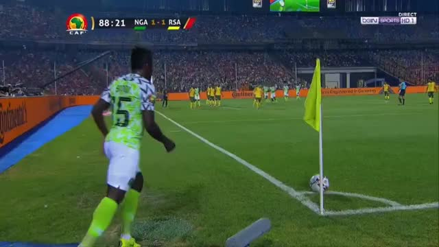 Watch William Troost-Ekong Goal - Nigeria [2] - 1 South Africa - AFCON GIF by Stephen Sa (@stephensa25) on Gfycat. Discover more related GIFs on Gfycat