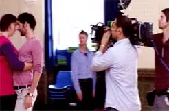 Watch Behind the scenes of 1x02 GIF on Gfycat. Discover more BABIES!, HEY I MADE GIFS, gary preston, miranda, miranda hart, this is possibly one of my favorite things, tom ellis GIFs on Gfycat