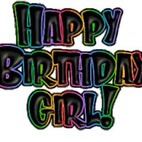 Watch and share Happy Birthday Girl! animated stickers on Gfycat