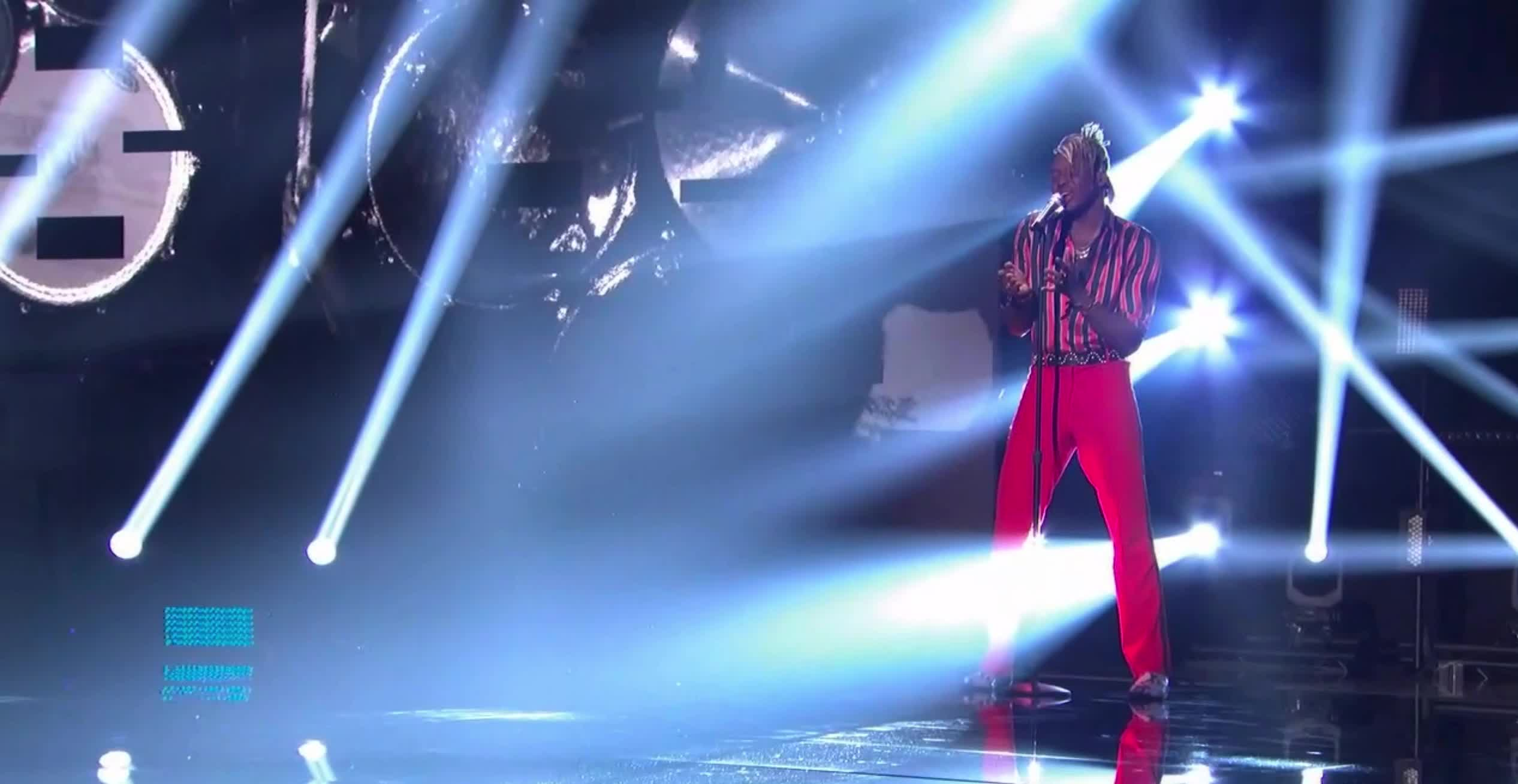 american idol, american idol season 17, americanidol, katy perry, lionel richie, luke bryan, ryan seacrest, season 17, singing, uche, American Idol Uche Starts His Performance GIFs