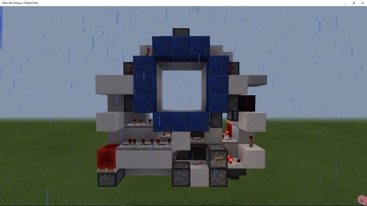 cubehamster, minecraft, piston door, MCPE 3x3 Piston Door GIFs