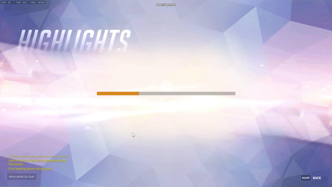 overwatch error starting game trying again