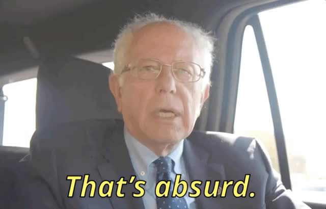 Watch and share Absurd Bernie Sanders GIFs by Ricky Bobby on Gfycat