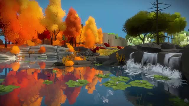 Watch The Witness waterfall GIF by @jarstandaly on Gfycat. Discover more gaming, woahdude GIFs on Gfycat