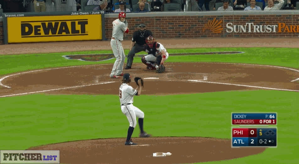 baseball, filthypitches, [GIF] R.A. Dickey's Knuckleball stops spinning mid-air (more GIFs in comments) (reddit) GIFs