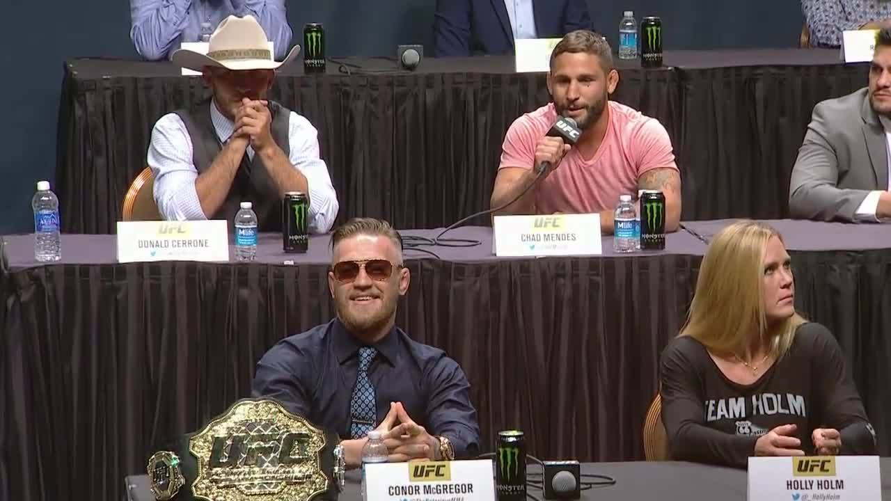 mmagifs, Conor McGregor running his mouth A LOT like more than usual at the