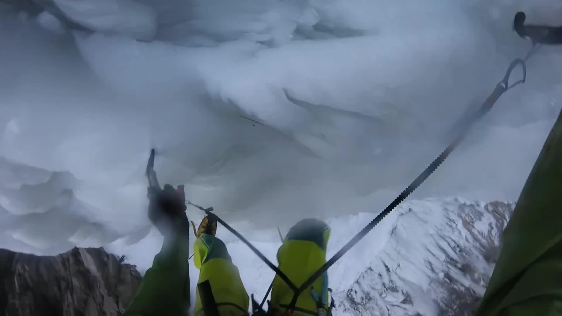 SweatyPalms, climbing, sweatypalms, Ice climbing waterfall collapse | https://youtu.be/PmtINnWS2 GIFs