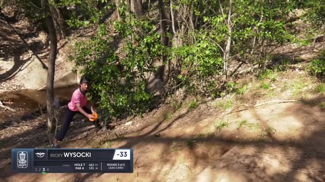Watch Final Round 2019 Waco Annual Charity Open - Ricky Wysocki hole 7 putt GIF by Benn Wineka UWDG (@bennwineka) on Gfycat. Discover more Sports, dgpt, disc golf, disc golf pro tour GIFs on Gfycat