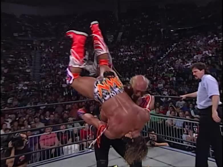 Hogan vs Warrior - Halloween Havoc 1998 - Minus Five Stars ...