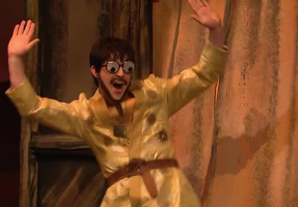 awesome, bingo, bro, cool, dance, dancing, dojo, drogo, epic, excited, ghost, khal, live, night, saturday, snl, story, woohoo, yeah, yes, Khal Drogo's Ghost Dojo - SNL GIFs