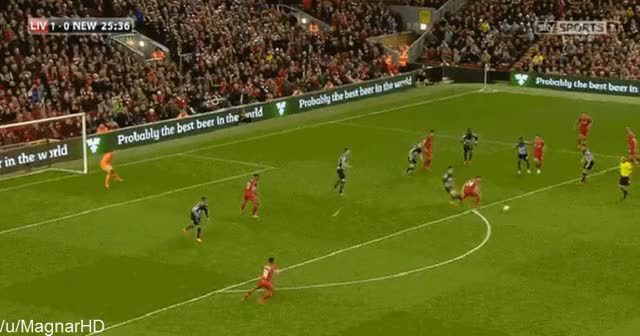 Watch and share Sterling Hard Work And Coutinho Skill (vs Newcastle) GIFs by Magnar - REBL on Gfycat