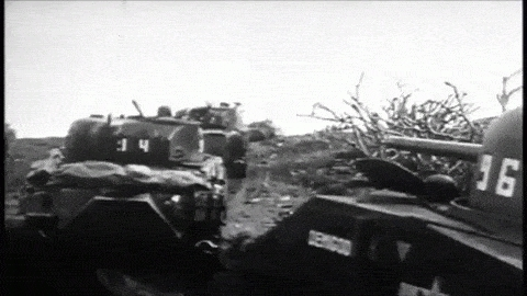 battle of iwo jima, flamethrower, iwo jima, m4, m4 sherman, m4 sherman tank, m4 tank, m4a, m4a3, medium tank, napalm, tank, united states marine corps, us marine corps, usmc, world war 2, world war ii, ww2, wwii,  GIFs