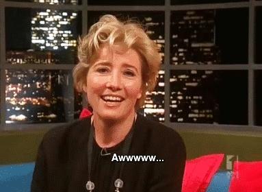Alan Rickman, Christmas, Emma Thompson, That bastard rickman, jonathan ross, love actually, shes a legend, Emma Thompson GIFs