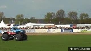 Watch and share Truckfest Bigfoot Monster Truck Car Jump GIFs on Gfycat