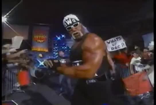 NWO, WCW, wrestling, wwe, WCW Monday Nitro 9-14-98 nWo Hollywood promo GIFs