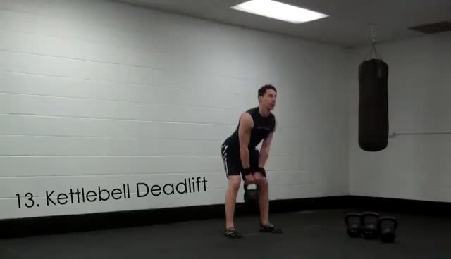 30 Kettlebell clean, press and squat GIFs