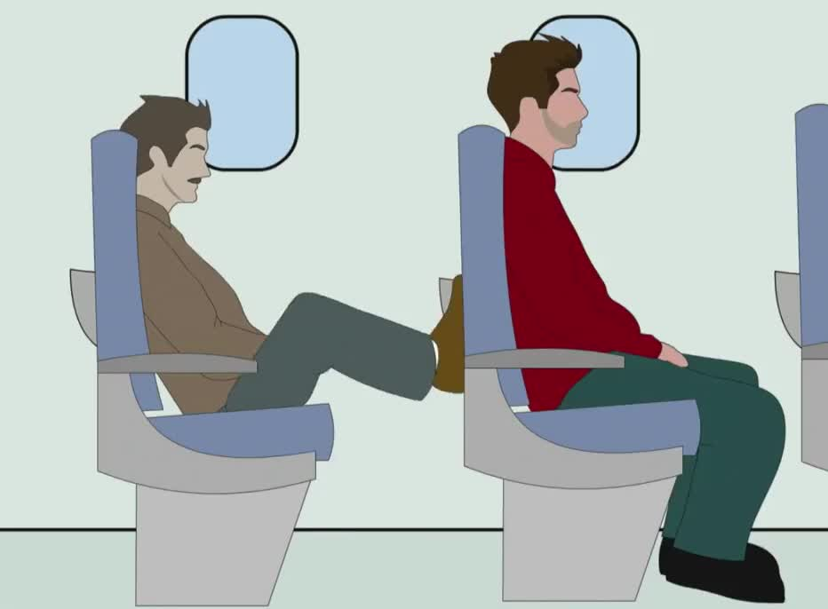 GIF Brewery, adam, airplane, annoying, behind, everything, gif brewery, guy, kick, kicking, legs, move, plane, ruins, seat, transportation, Annoying guy on the plane GIFs