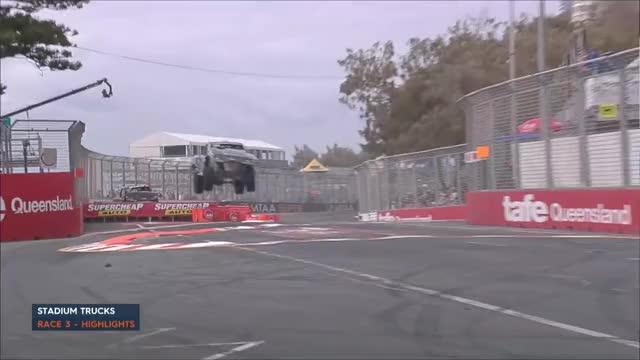 Watch and share Stadium Super Truck - Race 3 Highlights GIFs on Gfycat