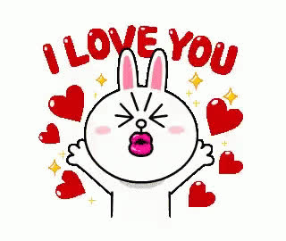 I, I love you, bunny, couple, cute, forever, heart, hearts, jump, jumping, kiss, love, rabbit, send, sweet, together, u, vibes, you, I love you bunny GIFs