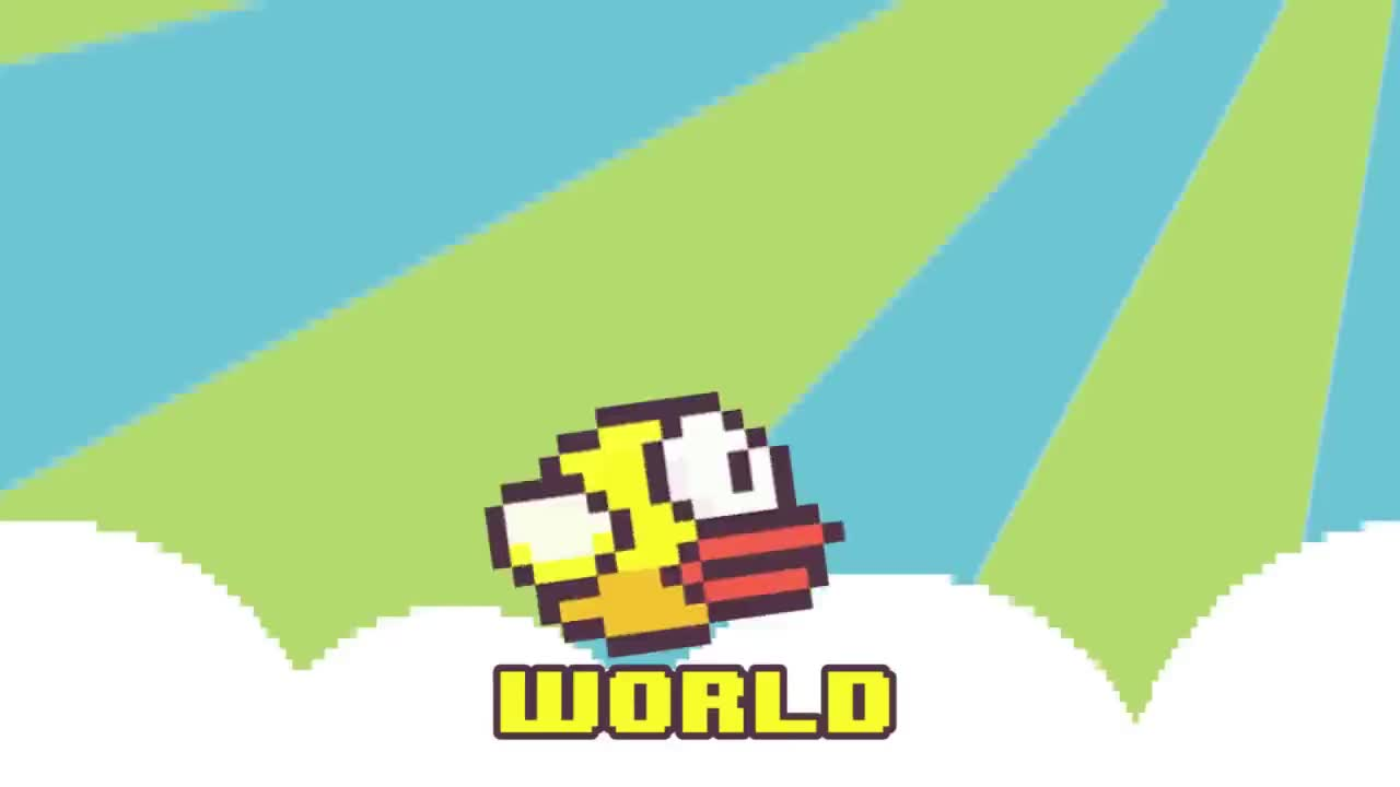 8bit, appstore, ausgeflattert, barbie, chiptune, come, cover, dead, download, flappie, flappybird, girl-song, highscore, iPhone, music, official, parody, remix, twitter, world, I'M A FLAPPY BIRD [ORIGINAL] GIFs