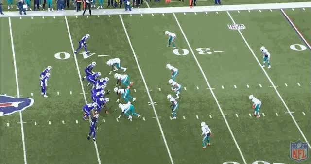 Watch and share Buffalo Bills Quarterback Tyrod Taylor Developed A Great Connection With His Speed Receivers On The Deep Ball (GIF  Game Pass). GIFs on Gfycat