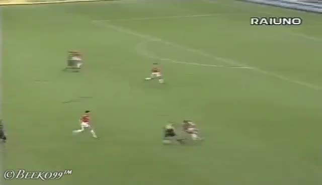 Watch and share Ronaldo  Vs Neuchatel  Uefa Cup 97/98 GIFs on Gfycat