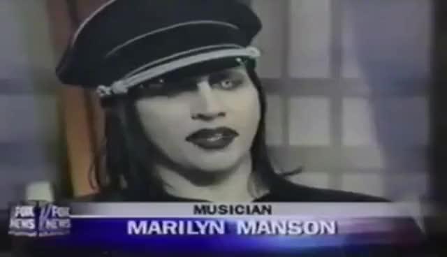 Watch and share Marilyn Manson Debates Bill O'Reilly GIFs on Gfycat
