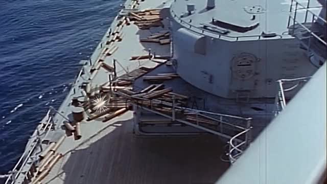 Watch USS Worcester (CL-144) bombards North Korean coastline, Korea. HD Stock Footage GIF on Gfycat. Discover more 6 inch gun battery, USS Worcester CL-144, firing salvos, shore bombardment of coastline GIFs on Gfycat