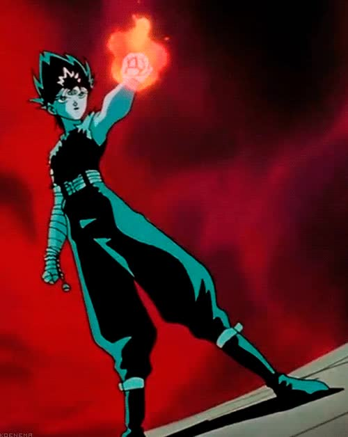 Watch and share Hiei Master Of The Black Dragon GIFs on Gfycat