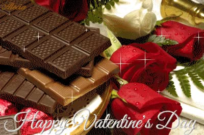 Watch and share Valentines Day Happy Roses Chocolate Animated Animation Animations Gif GIFs on Gfycat