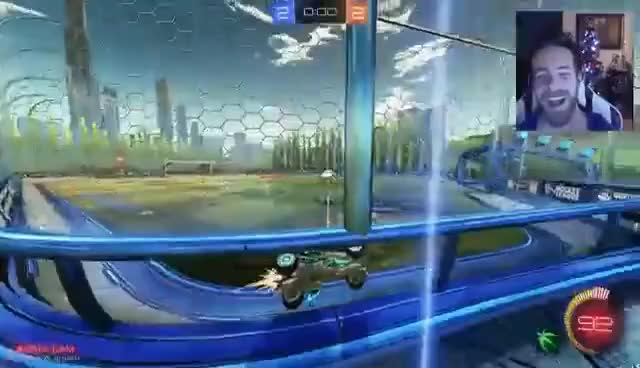 HITTING THE BALL OUTSIDE OF THE MAP!   ROCKET LEAGUE