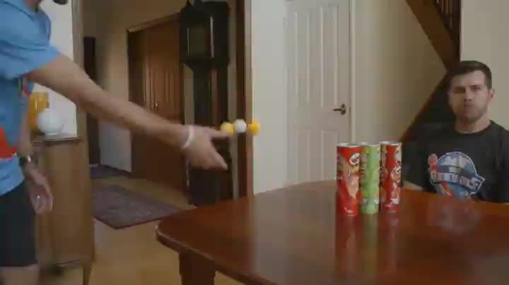 Ping pong trick shot GIFs