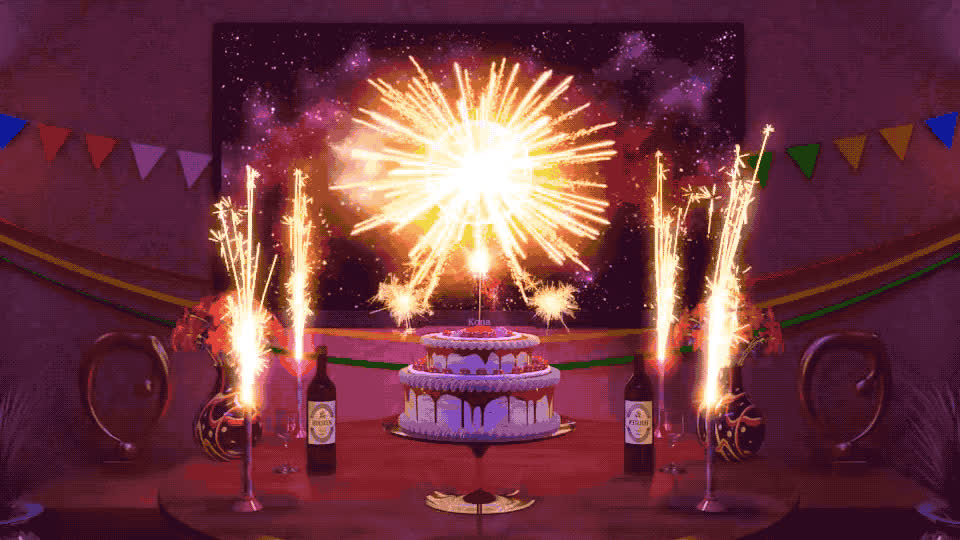 bday, best, birthday, birthday cake, cake, candles, celebrate, champagne, confetti, excited, exciting, fireworks, happy, happy birthday, sparkles, tada, wishes, woohoo, yay, yeah, Happy birthday to you GIFs