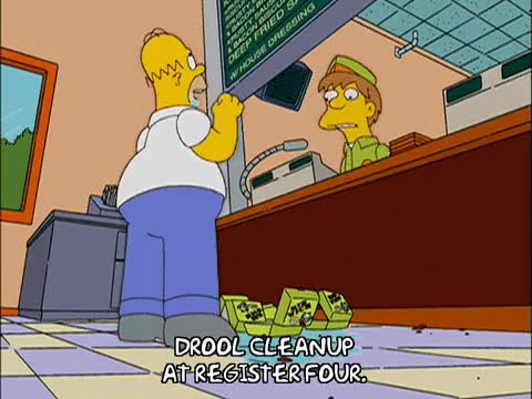 Watch and share Drooling Homer GIFs on Gfycat
