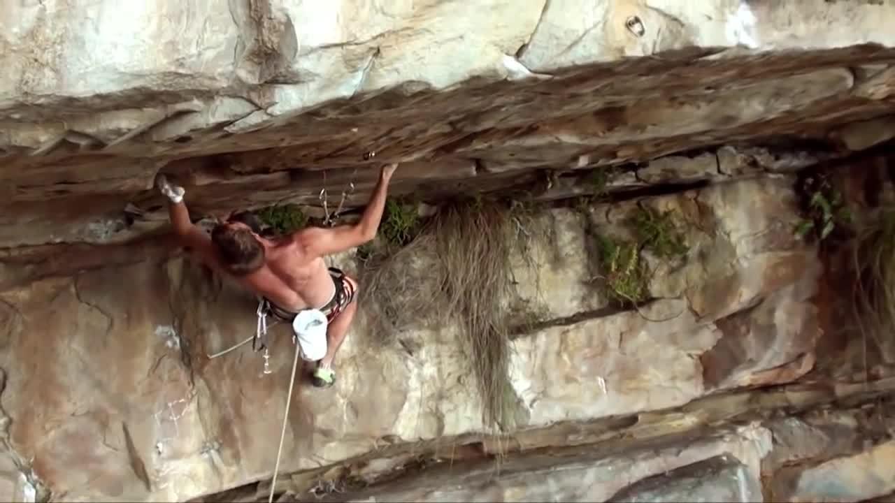 climbing, rock climbing, trad climbing, Joe Möhle climbs Life Enhancement program, F8a+ on gear... GIFs