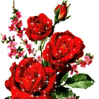 Watch and share Red Roses Bouquet animated stickers on Gfycat