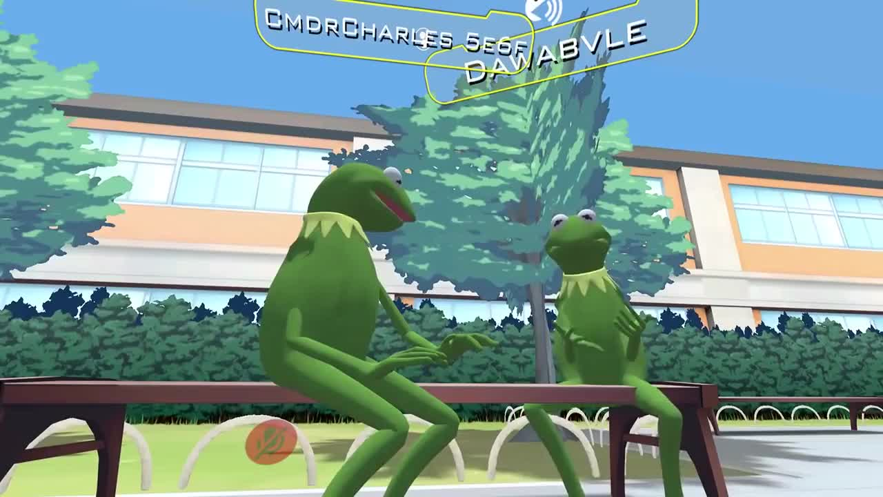 VR, kermit, syrmor, vrchat, kid in vrchat talks about getting bullied GIFs