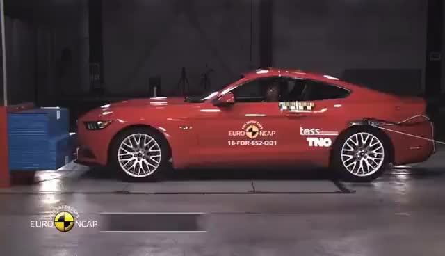 Watch Ford Mustang Crash Test Fail 2 5 Stars Euro Ncap Autogefühl Gif On