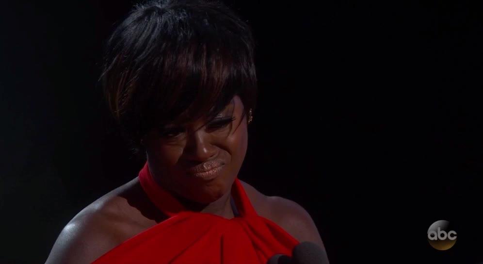 oscars, oscars2017, Viola Davis pucker and cry - Oscars 2017 GIFs