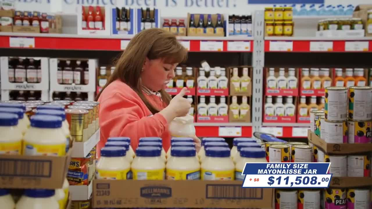 Mayonnaise, Rice, SNL, beef, camera, cheese, competition, games, ghostbusters, mayo, mayonnaise, padget, parmesean, pasta, rice, shopping, snl, snl41, spy, supermarket, sushi, tuna, wrestle, Cut For Time: Supermarket Spree (Melissa McCarthy) - SNL GIFs
