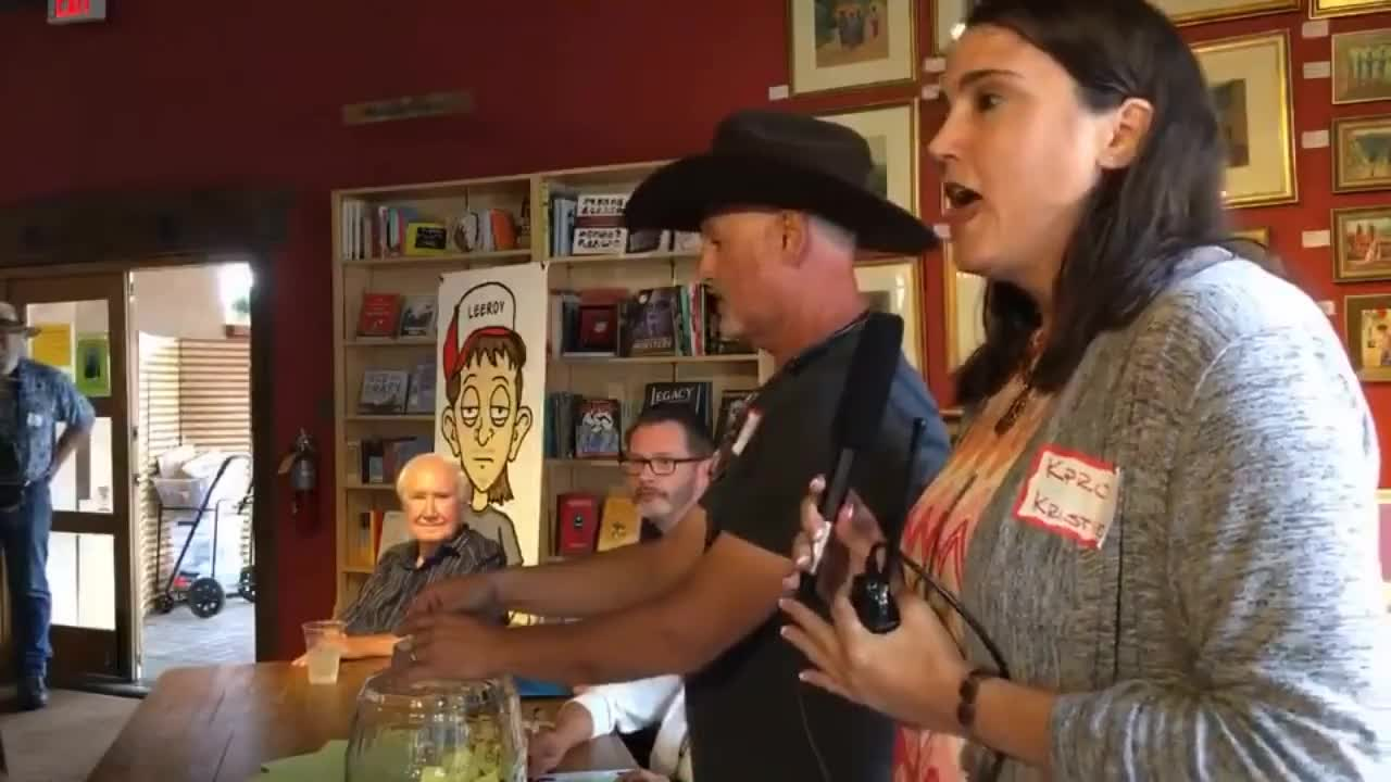 Raffle Drawing For Forrest Fenn Searcher Jamie Jourdan At Collected Works  Bookstore In Santa Fe