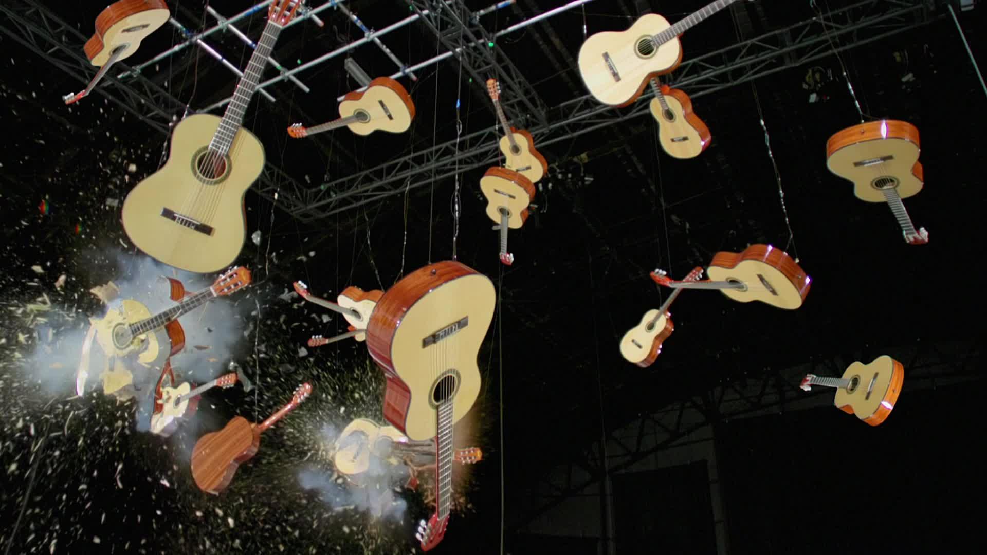 OK Go, The One Moment, moment, morton, music, okgo, one, theonemoment, Explosive Acoustic Guitars - OK Go GIFs