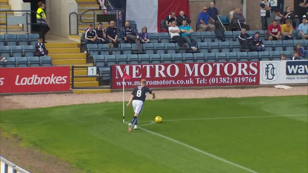 scottishfootball, James McPake volley from a corner for Dundee v St Johnstone (reddit) GIFs