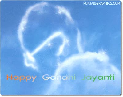 Watch and share Happy Gandhi Jayanti animated stickers on Gfycat