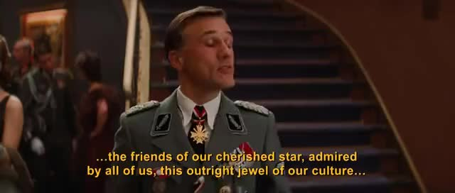 Watch Inglorious basterds- italian GIF on Gfycat. Discover more Inglorious basterds hans landa italian brad pitt Quentin tar GIFs on Gfycat