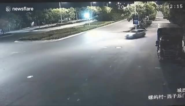 Watch Lucky driver survives after truck flattens his car GIF on Gfycat. Discover more related GIFs on Gfycat