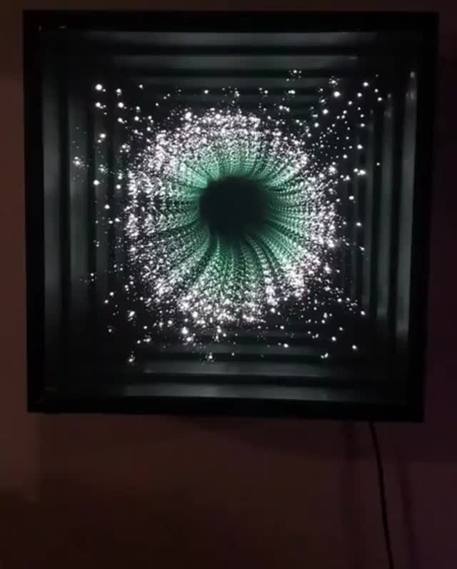 Watch An Infinity mirror is a pair of parallel mirrors, which create a series of smaller and smaller reflections that appear to recede to infinity GIF by Jackson3OH3 (@jackson3oh3) on Gfycat. Discover more related GIFs on Gfycat