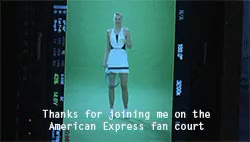 Watch Maria Sharapova GIF on Gfycat. Discover more 2015, American Express, Gif, Grand Slam, Maria Sharapova, SharaFamily, Sharapova, Tennis, US Open, WTA GIFs on Gfycat
